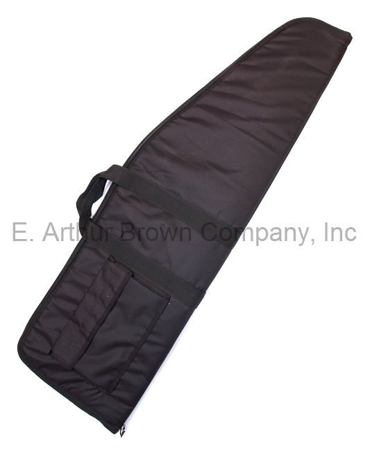 Sniper Rifle Gun Case w/ Pocket Black Nylon Size 14.5 x 48