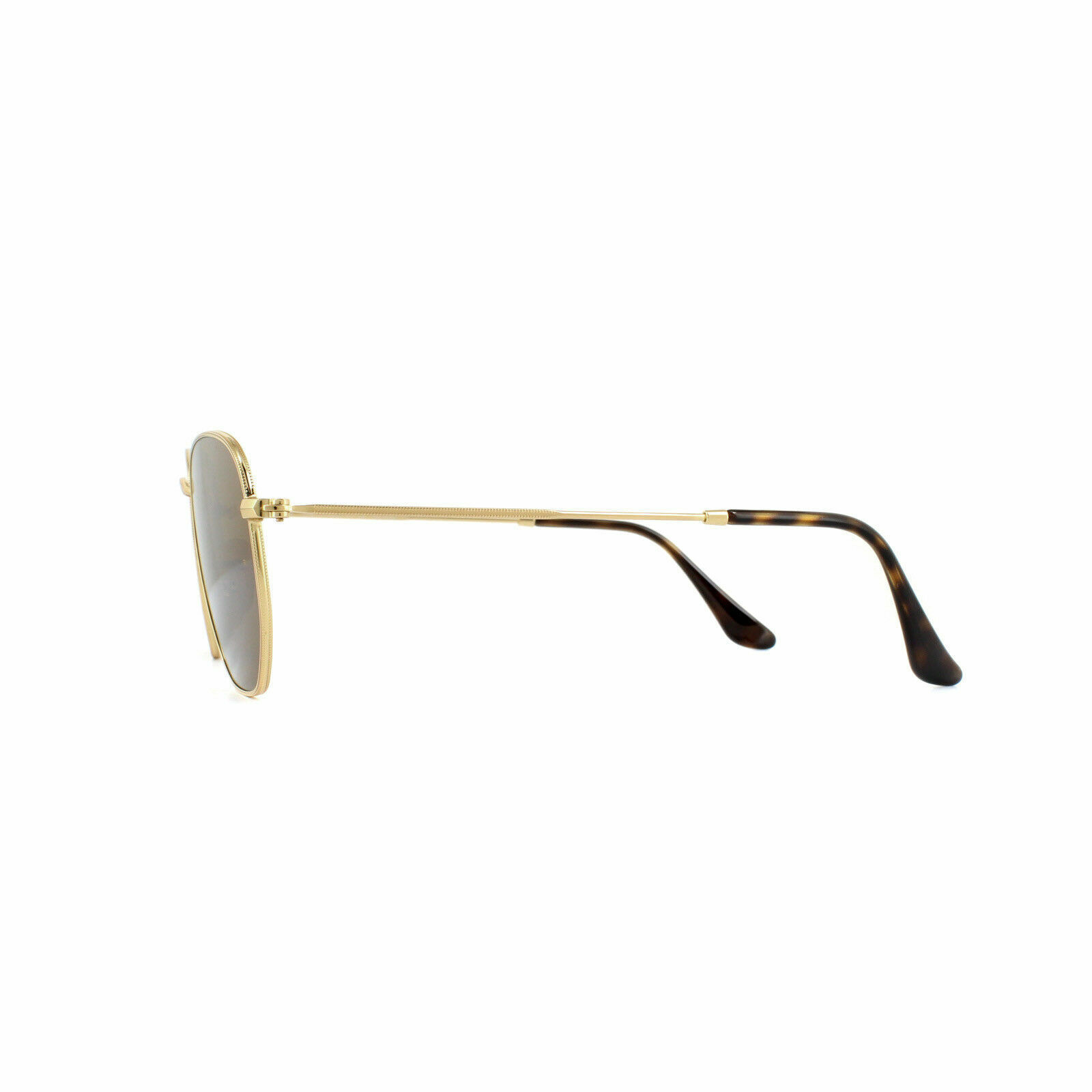 1017079f7a New Ray Ban RB3548N 001 57 51mm Shiny Gold Frame Flat Crystal Brown ...