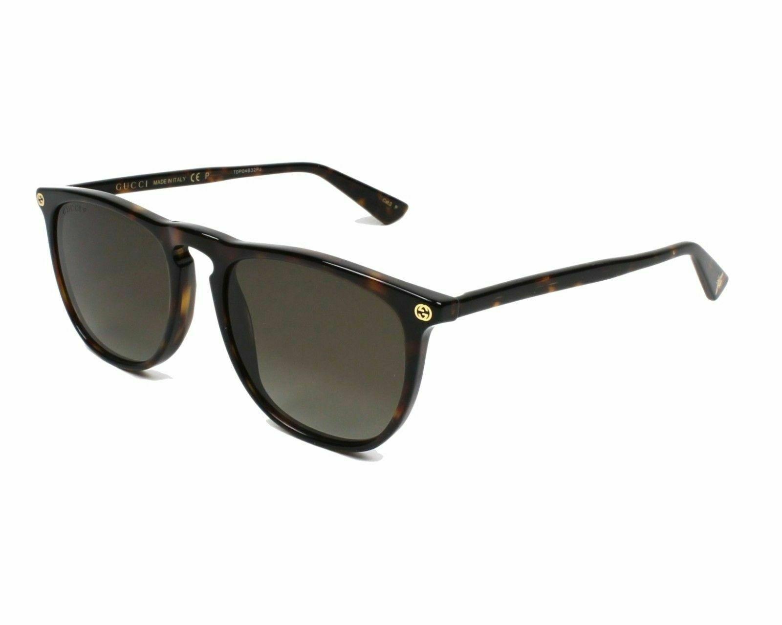 d0a83343f08 Gucci GG0120S 006 Sunglasses Havana Brown Frame Brown Polarized ...