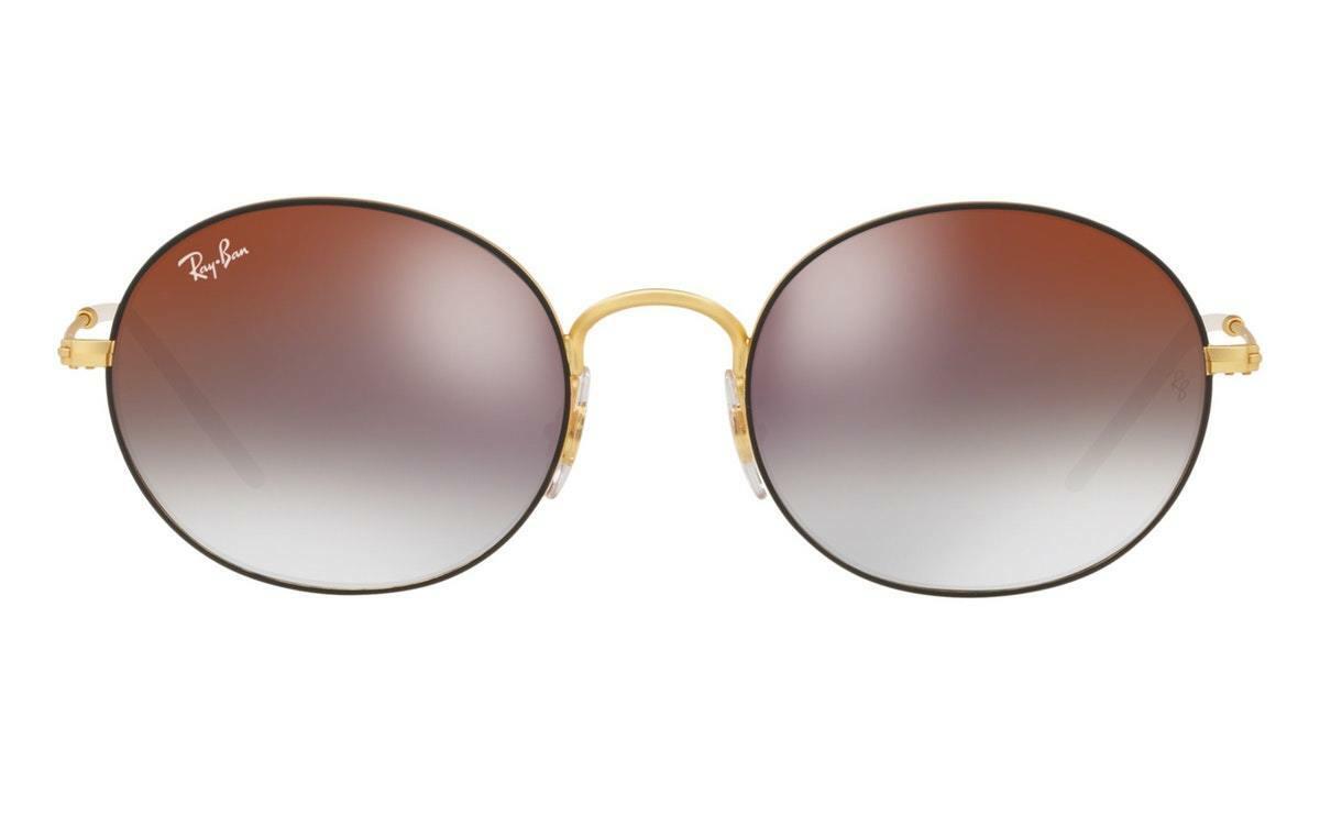 394a8b155d Ray Ban RB3594 53 9114U0 53 Gold Black Sunglasses Oval Metal Lenses ...