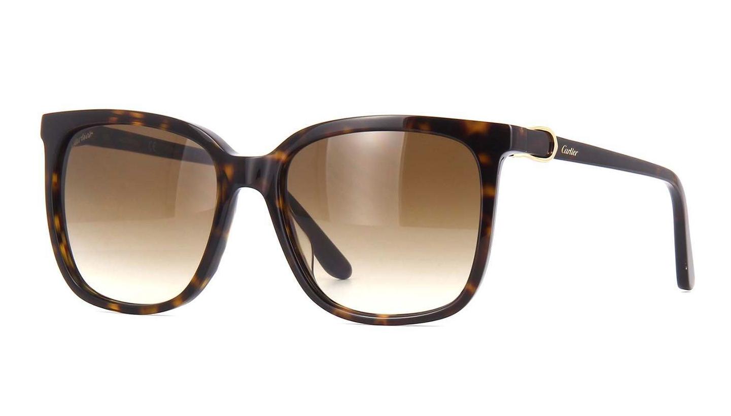 66f877bc95 Cartier Sunglasses Signatuer C DE Cartier CT0004S 002 55MM Havana Frame  Brown