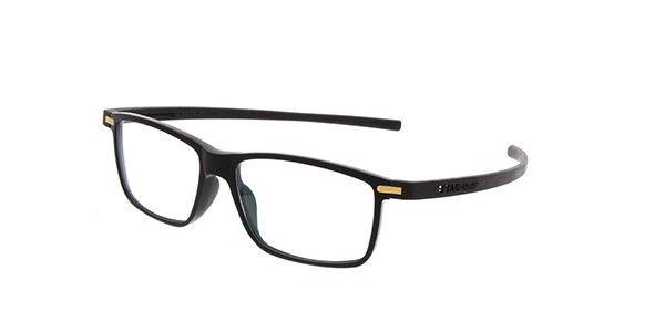 TAG HEUER AUTOMATIC SEMI RIMLESS OPTICAL GLASSES FRAME BLACK WHITE TH 0823 011